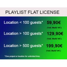 Playlisten Flatrate Lizenz