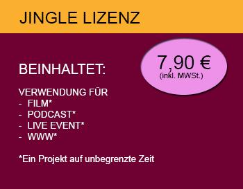 Jingle Lizenz - GEMAFREI 7,90€