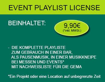 Playlist Lizenz für GEMAFREIE Events 9,90€