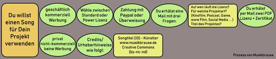 Bestellprozess Lizenz - Musikbrause