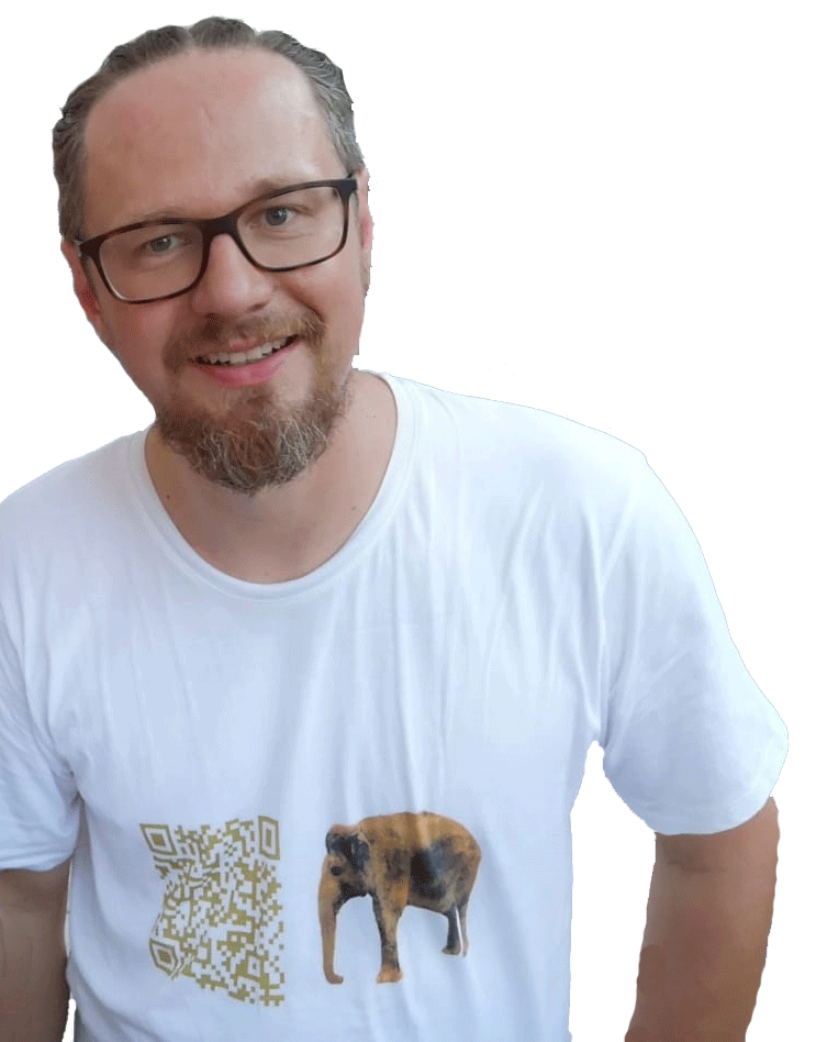 T-Shirt Motiv Checkie Brown - Gelb