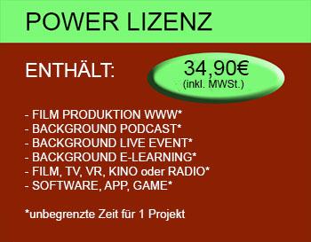 Power Lizenz - GEMAFREI 34,90€