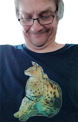 T-Shirt Motiv Serval - Farbe